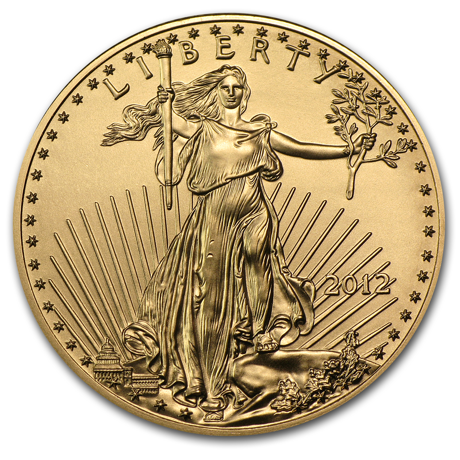 2012 1/2 oz Gold American Eagle BU