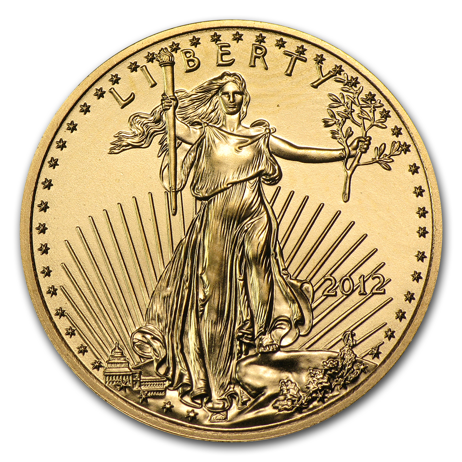 2012 1/4 oz Gold American Eagle BU