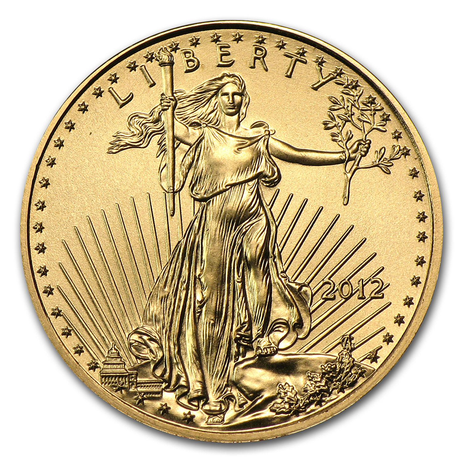 2012 1/10 oz Gold American Eagle BU