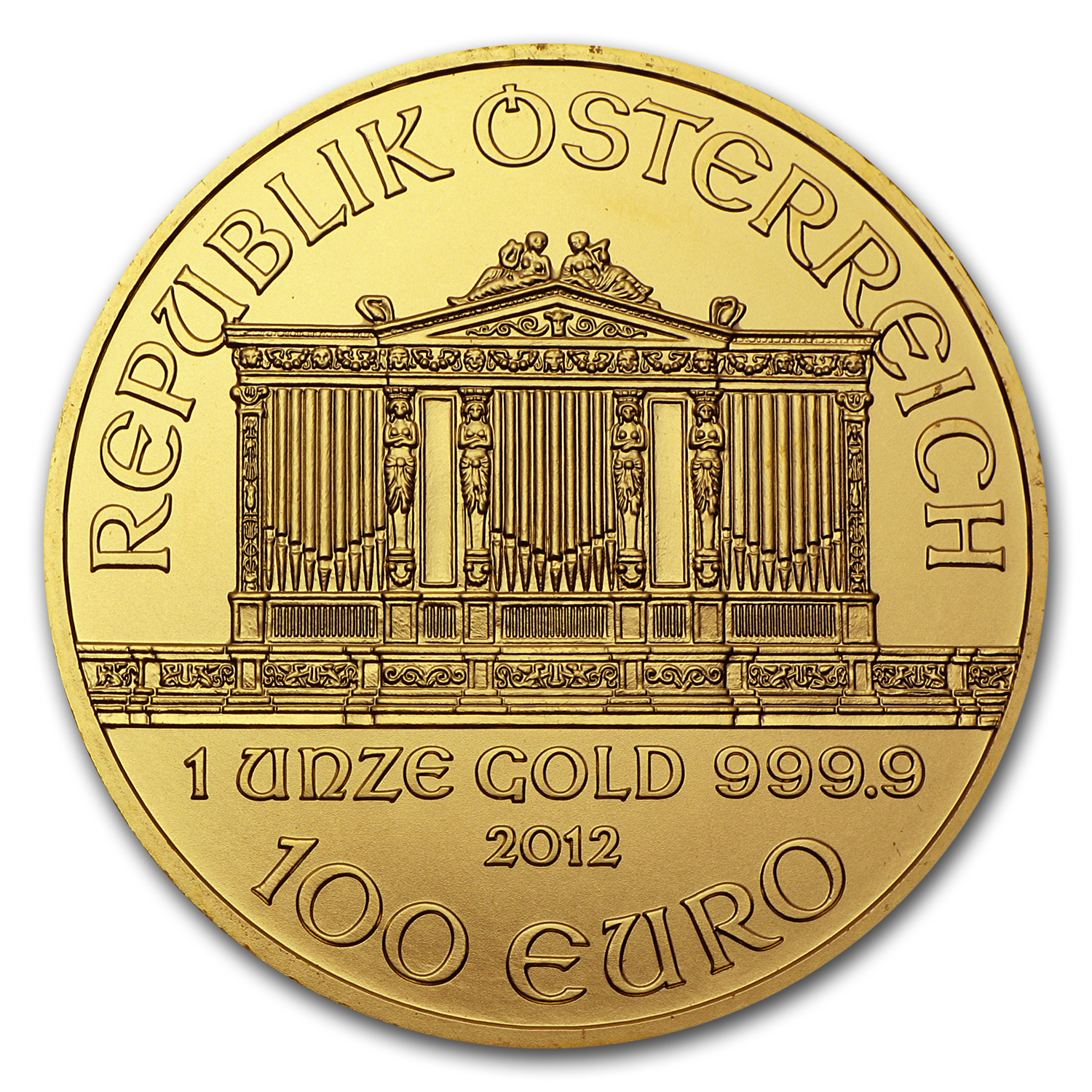 2012 1 oz Gold Austrian Philharmonic