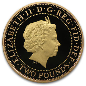 2011 Great Britain £2 Gold Piedfort King James Bible - Proof