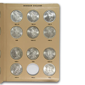 Morgan Dollar Set - BU - Dansco Album 1878-1921 - 52 Coins