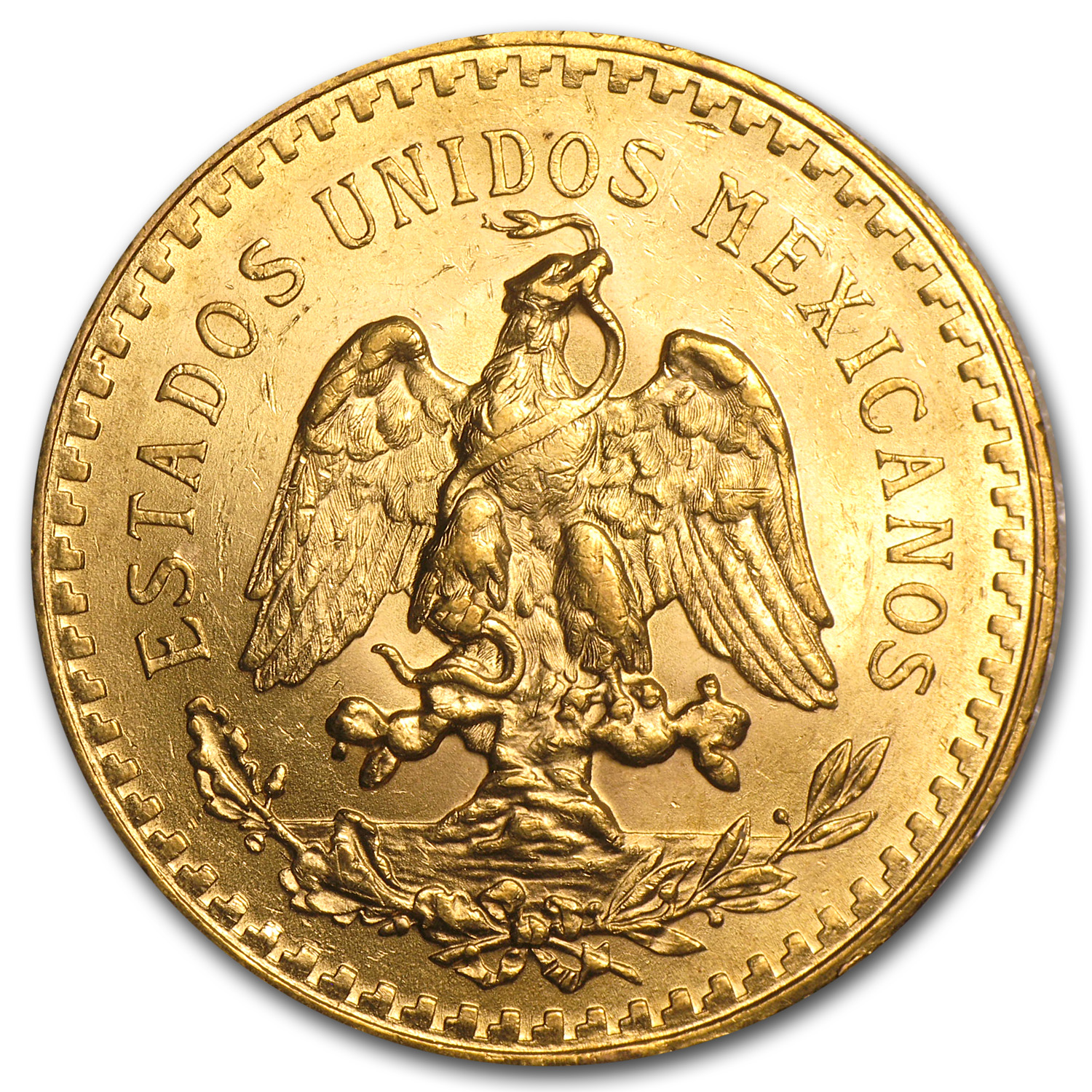 1926 Mexico Gold 50 Pesos BU