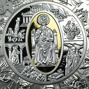 2009 1 kilo (32.15 oz) Proof Silver Liberian Coin St. Peter