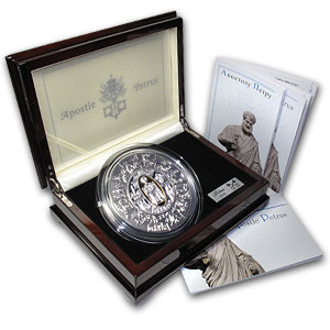 2009 Liberia 1 kilo Silver St. Peter Proof