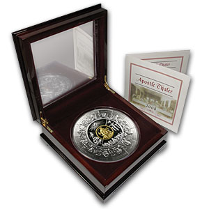 2008 1 kilo (32.15 oz) Proof Silver Liberian Coin The Apostles