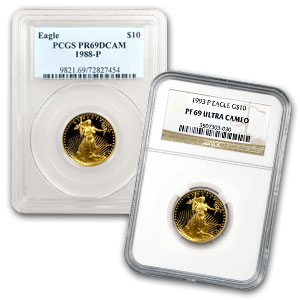 1/4 oz Proof Gold American Eagle PR-69 PCGS/NGC (Random Year)