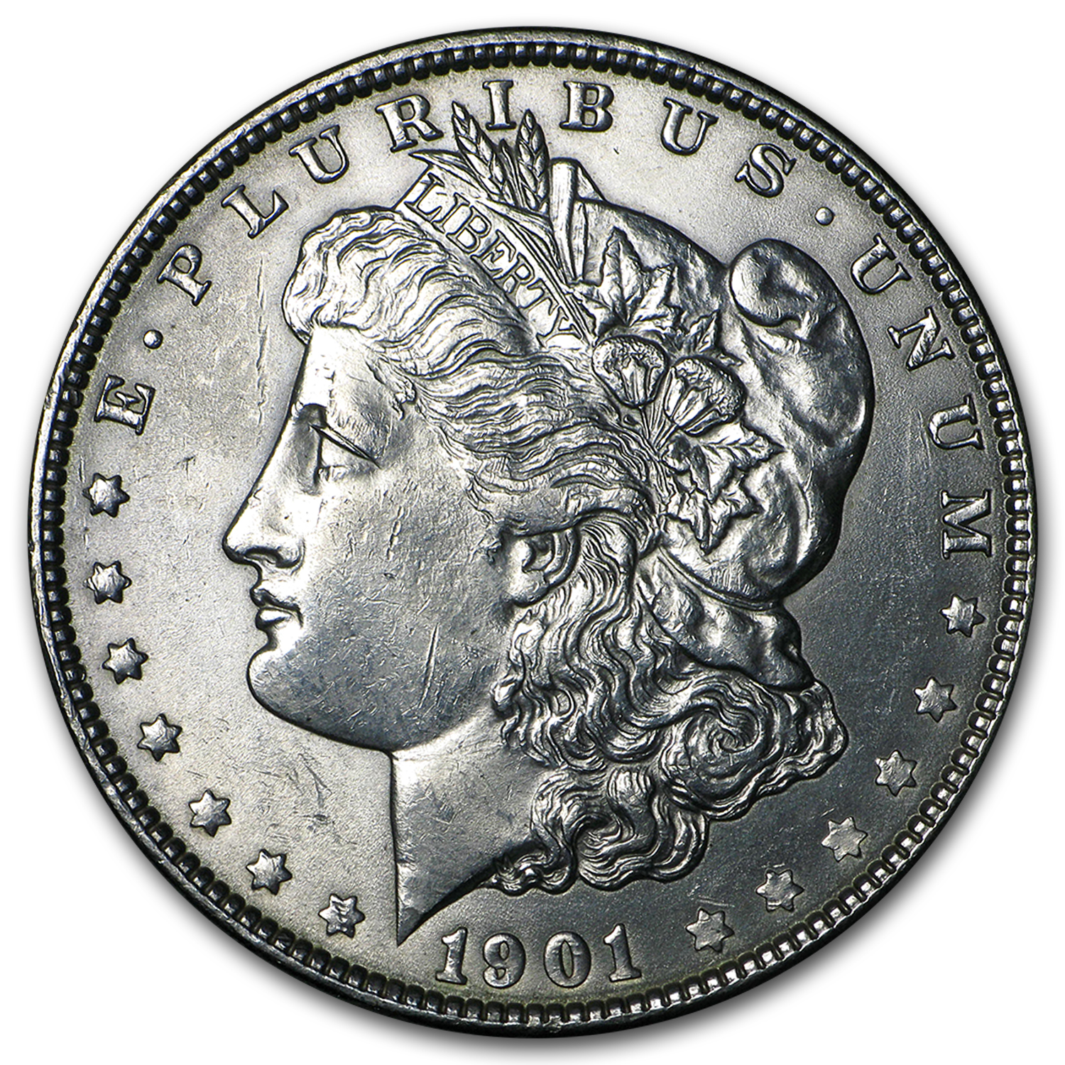 1901 Morgan Dollar - Almost Uncirculated-58