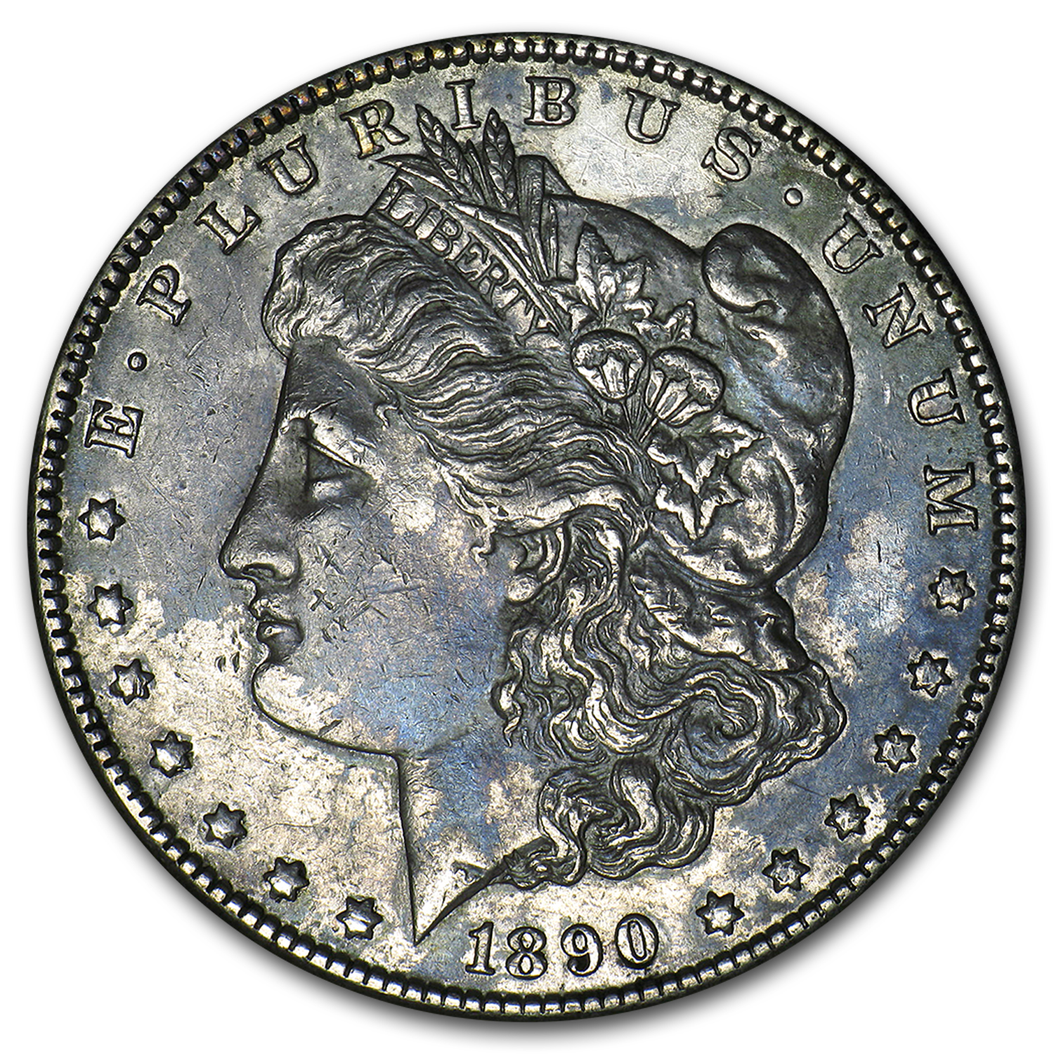 1890-CC Morgan Dollar XF (Vam-4, Tailbar Variety, Top-100)