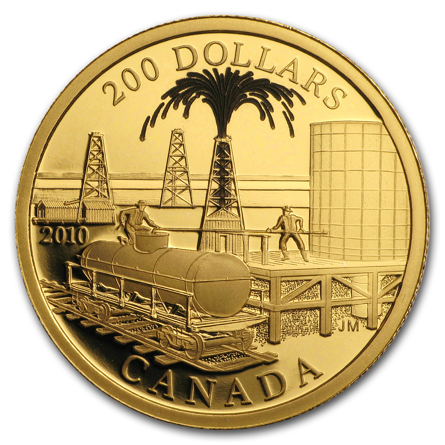 2010 Canada Proof Gold $200 Oil Industry (w/Box & COA)