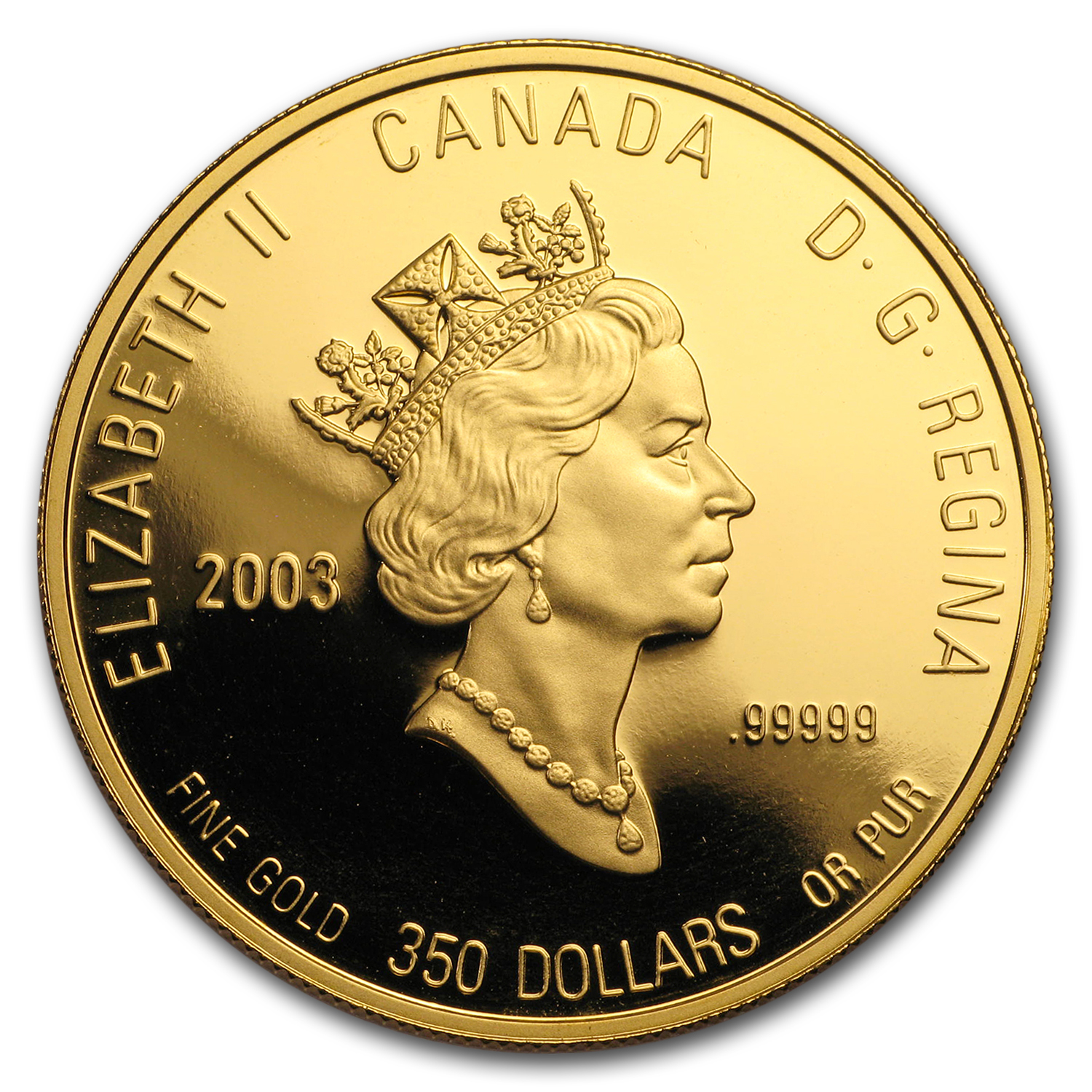 2003 Canada Proof Gold $350 Pure White Trillium .99999