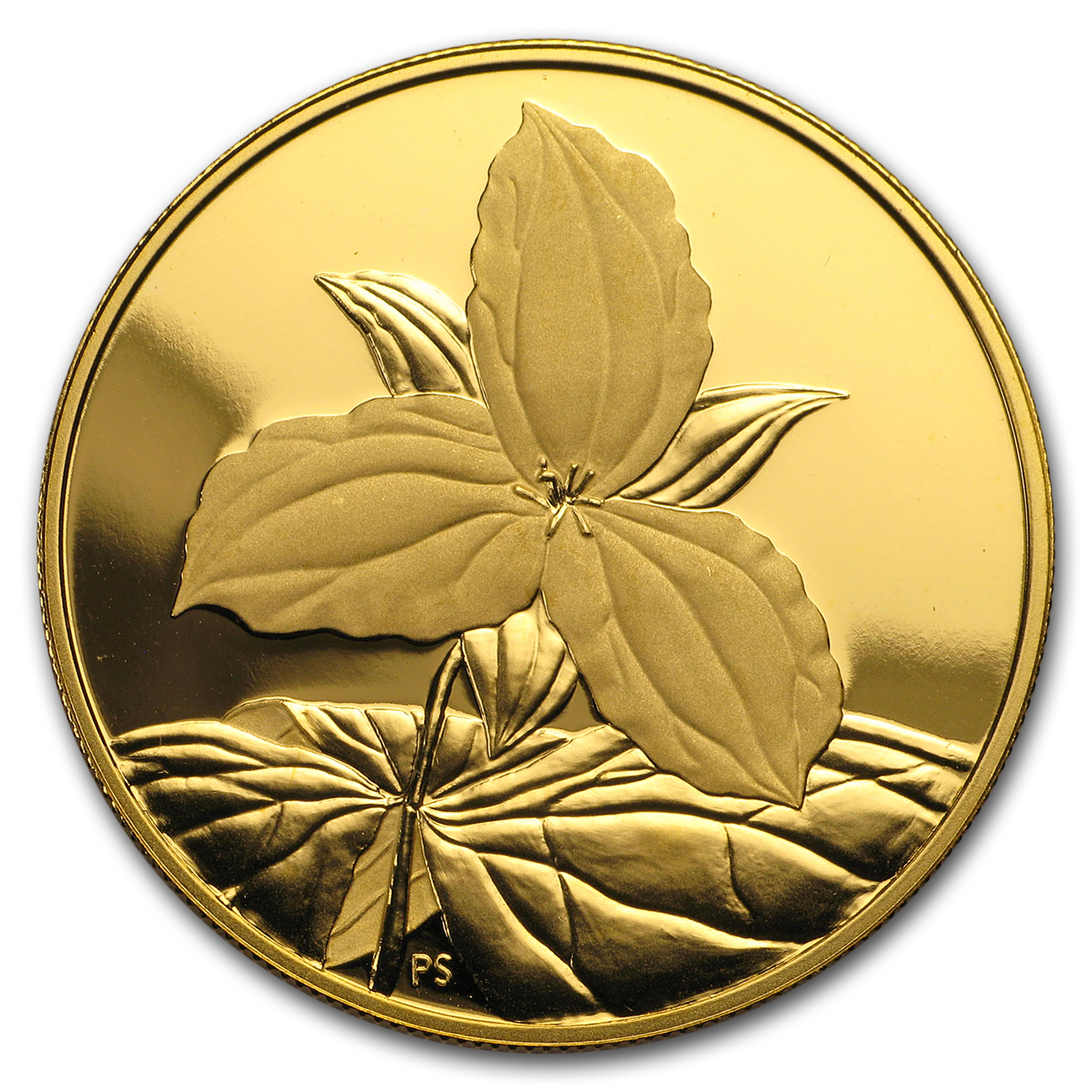 2003 Canada Proof Gold $350 Pure White Trillium .99999 fine