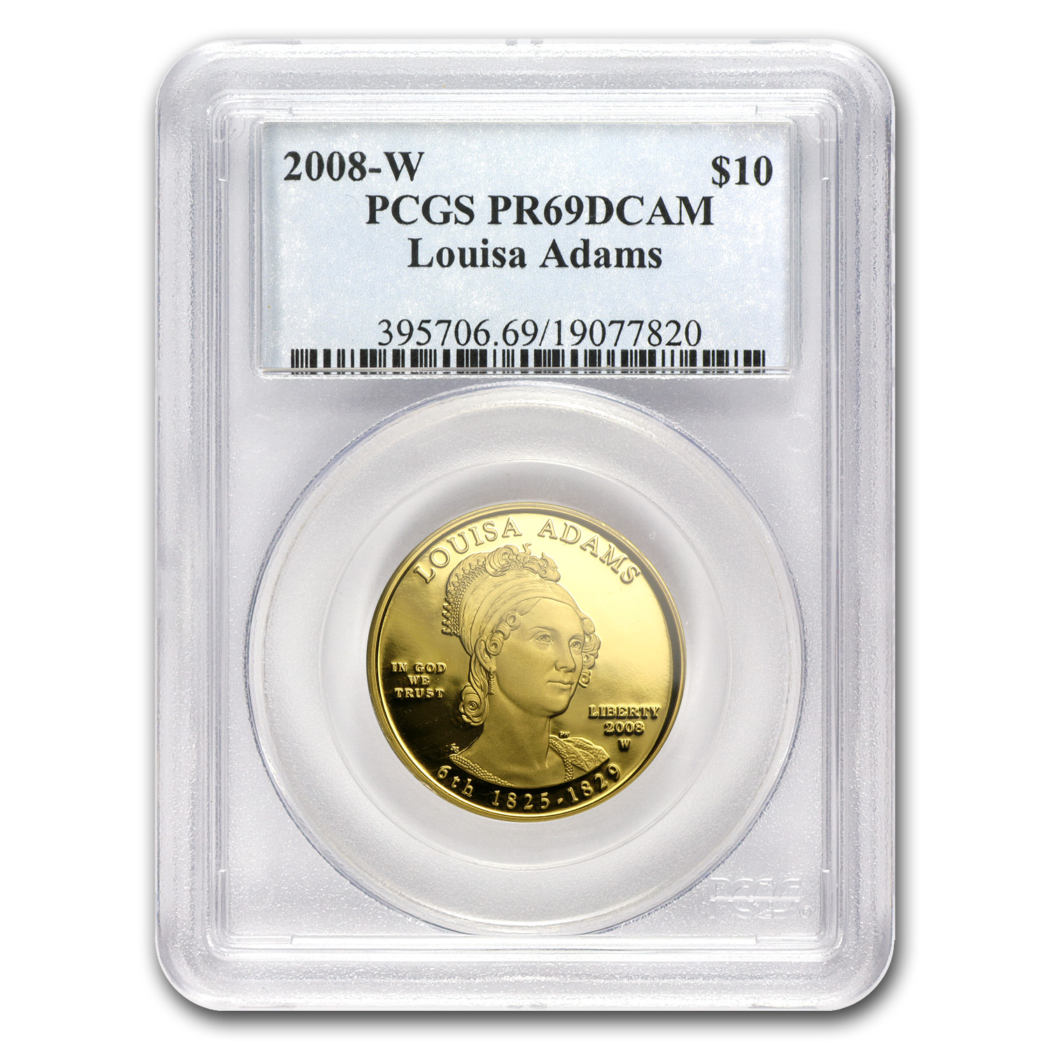 2008-W 1/2 oz Proof Gold Louisa Adams PR-69 PCGS