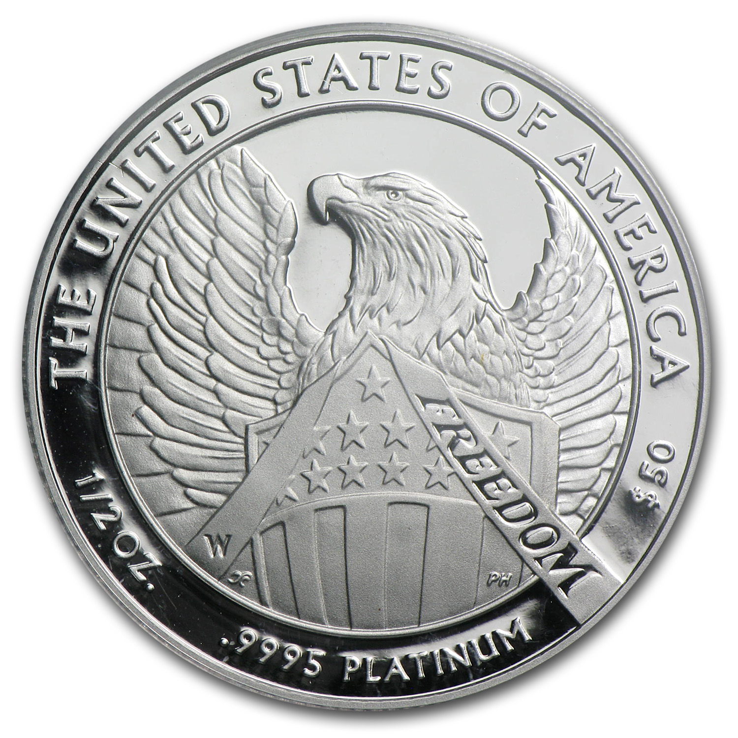 2007-W 1/2 oz Proof Platinum Eagle PR-70 PCGS (10th Ann - FS)
