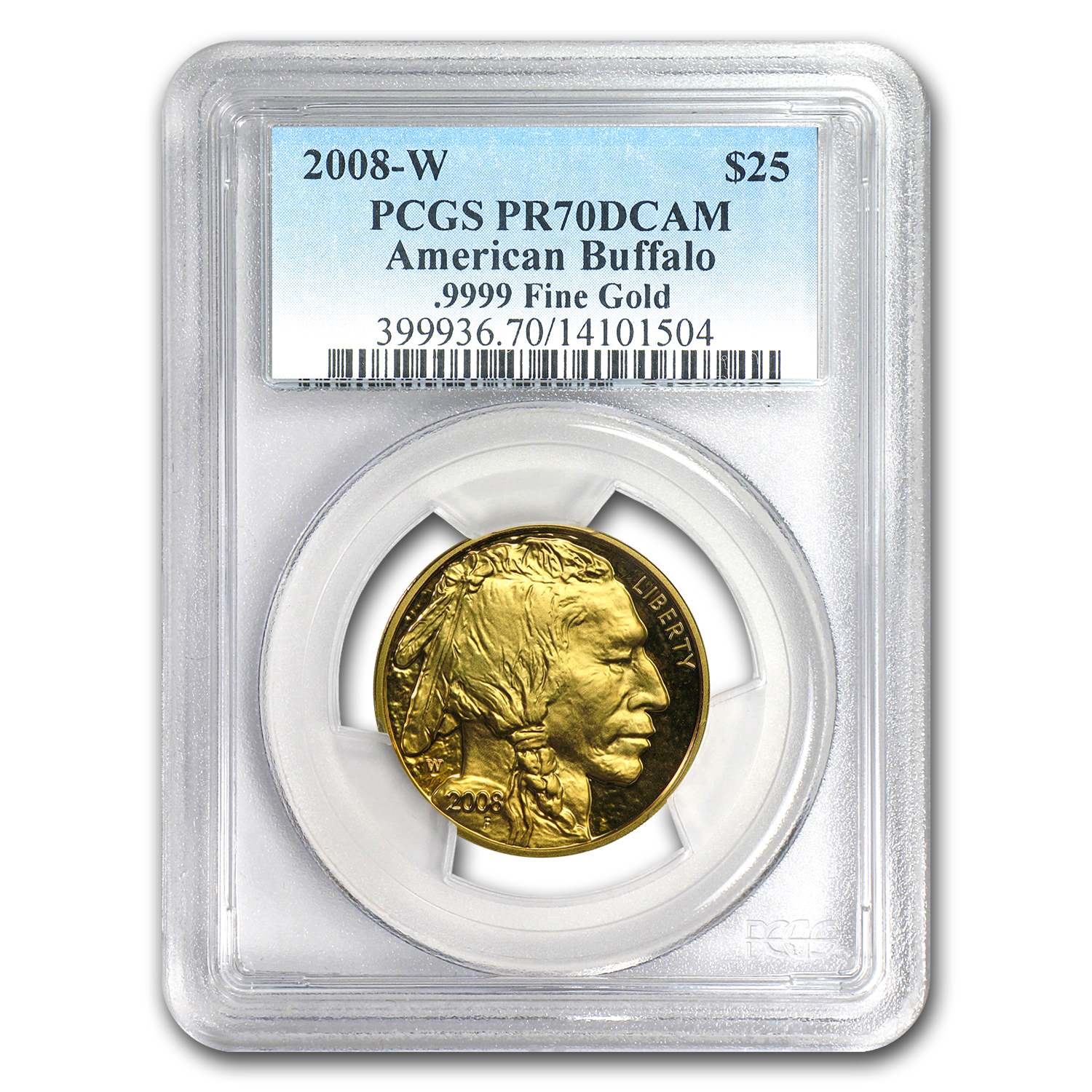 2008-W 1/2 oz Proof Gold Buffalo PR-70 PCGS