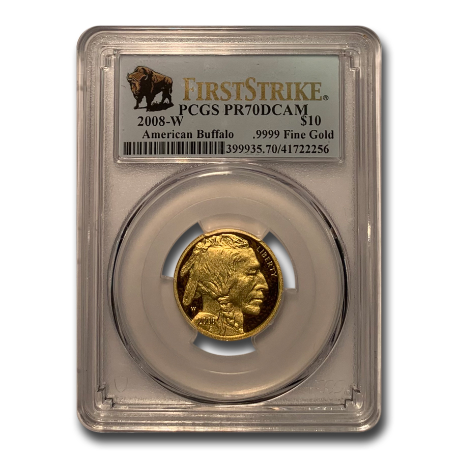 2008-W 1/4 oz Gold Buffalo SP/MS-70 PCGS