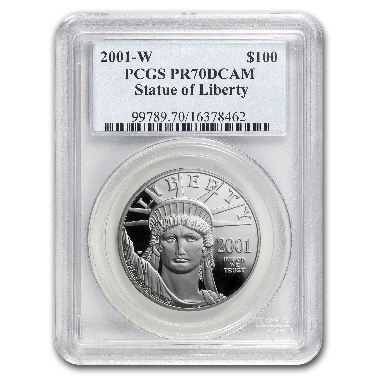 2001-W 1 oz Proof Platinum American Eagle PR-70 PCGS Registry Set