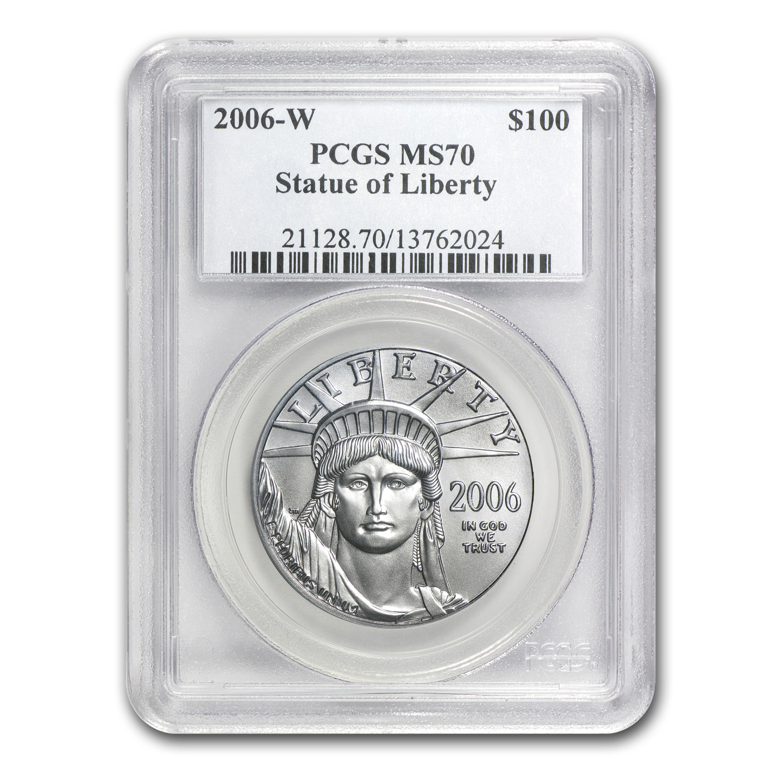 2006-W 1 oz Burnished Platinum American Eagle MS-70 PCGS