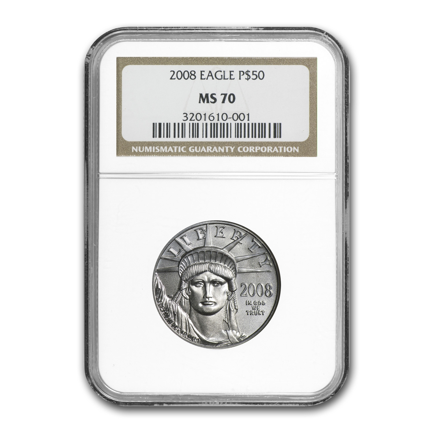 2008 4-Coin Platinum American Eagle Set MS-70 NGC