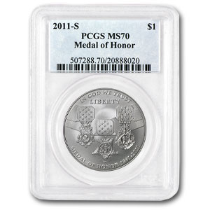 2011-S Medal of Honor $1 Silver Commemorative MS-70 PCGS