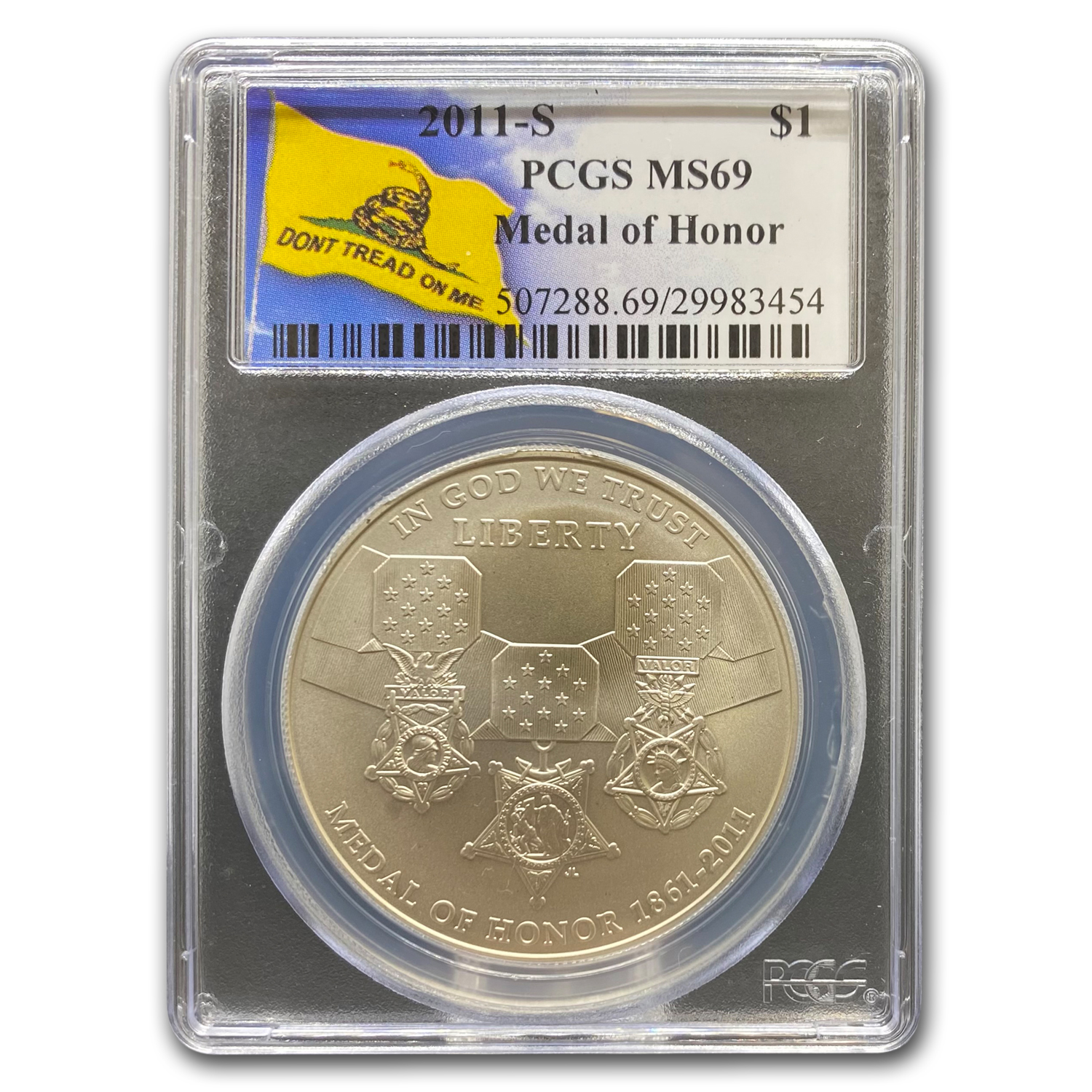 2011-S Medal of Honor $1 Silver Commemorative MS-69 PCGS