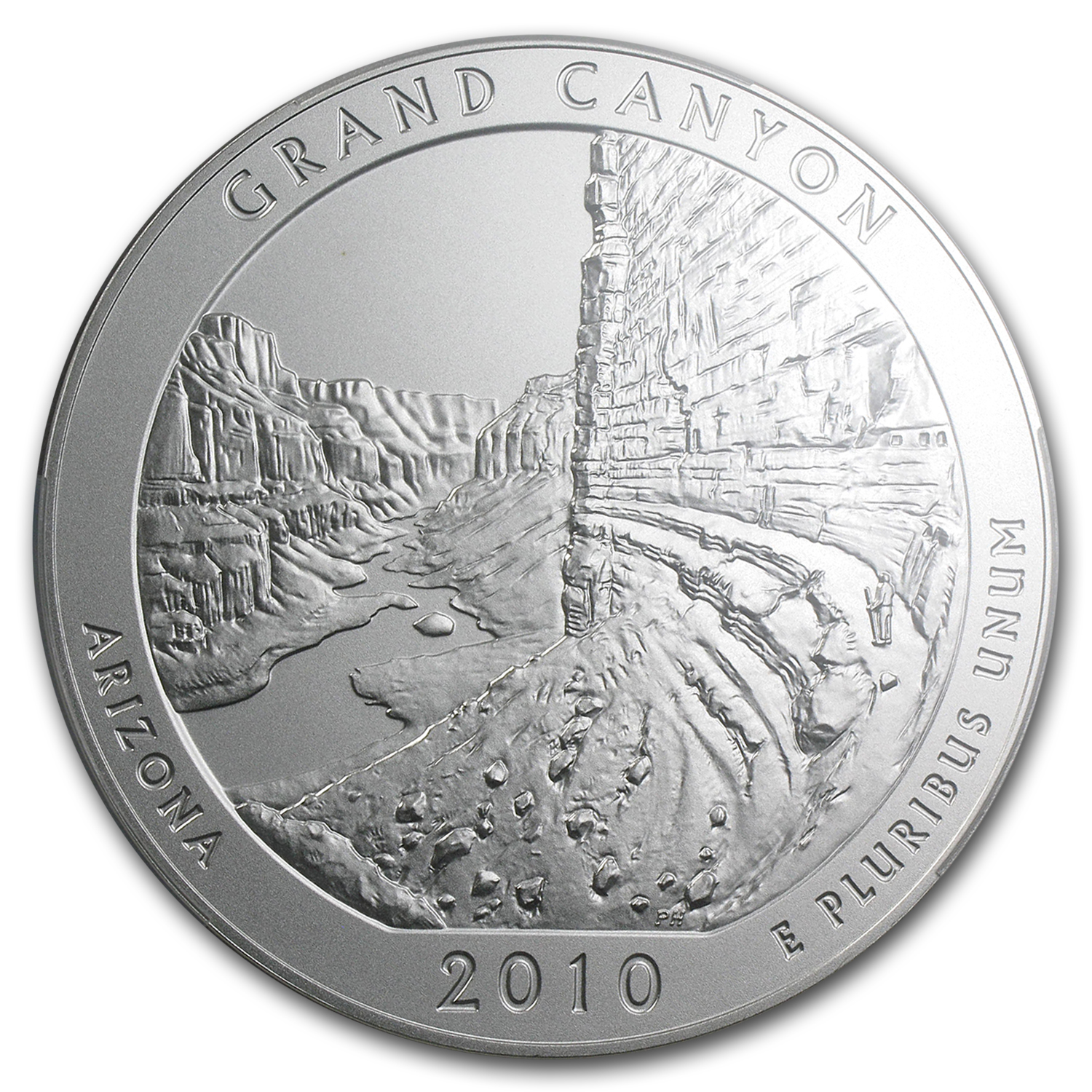 2010-P 5 oz Silver ATB Grand Canyon NGC SP-70 Early Releases