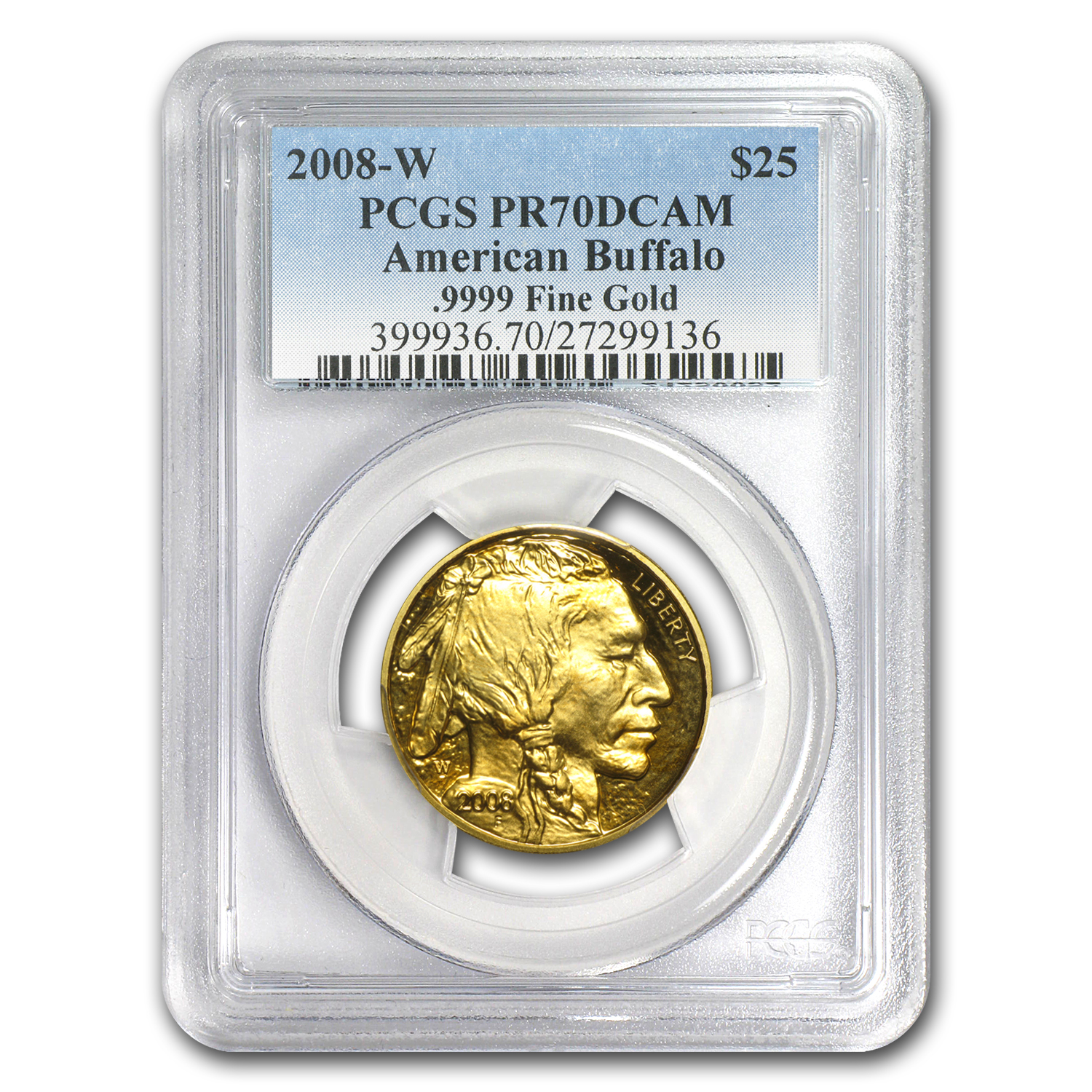 2008-W 4-Coin Proof Gold Buffalo Set PR-70 PCGS