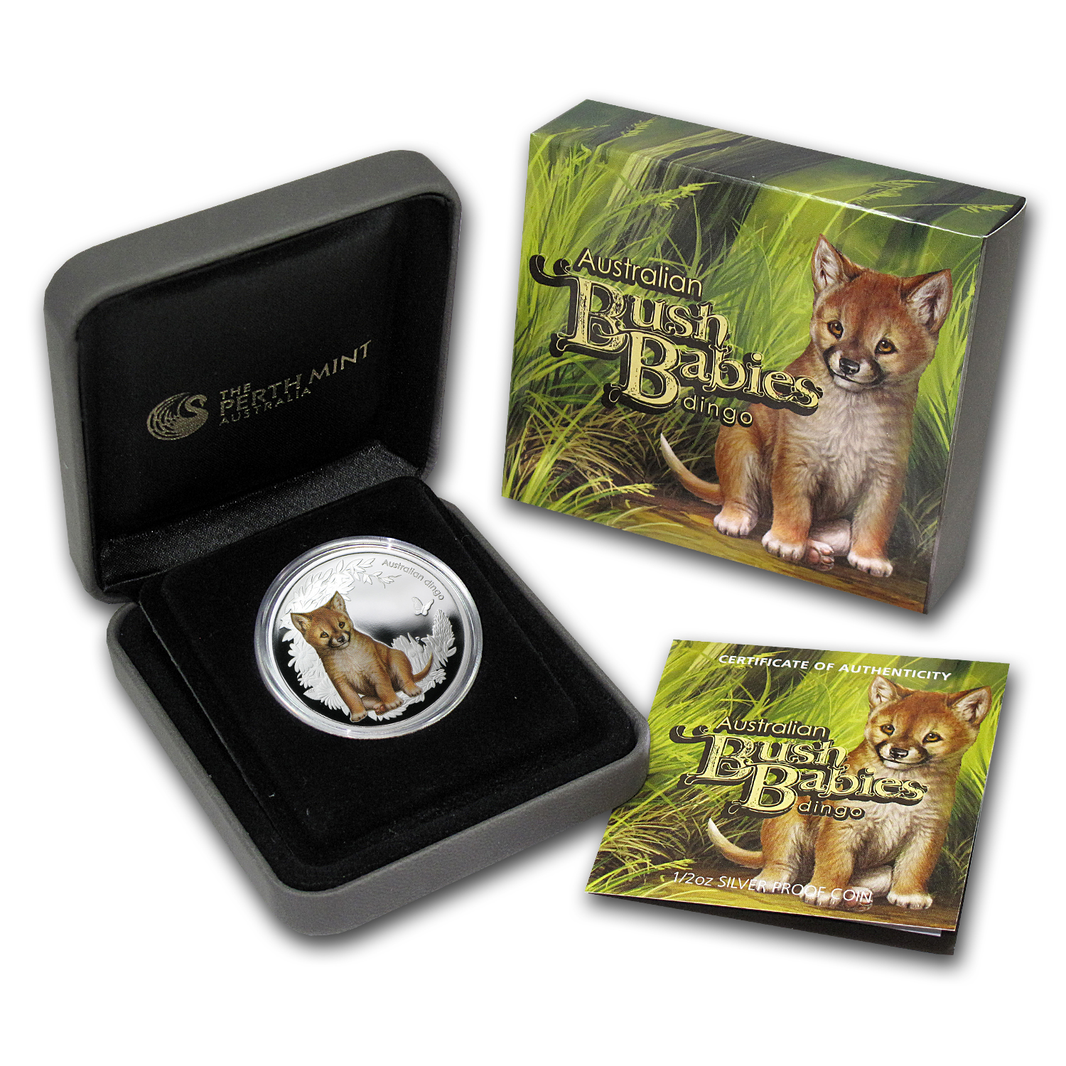 2011 Australia 1/2 oz Silver Bush Babies Dingo Proof