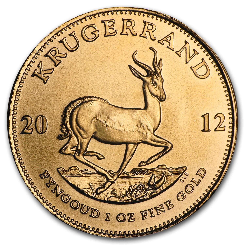 2012 South Africa 1 Oz Gold Krugerrand Gold Value