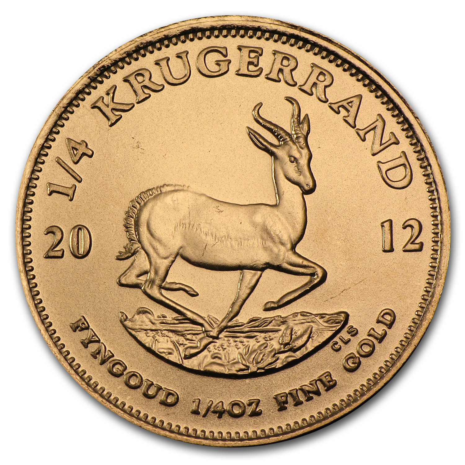 2012 South Africa 1/4 oz Gold Krugerrand