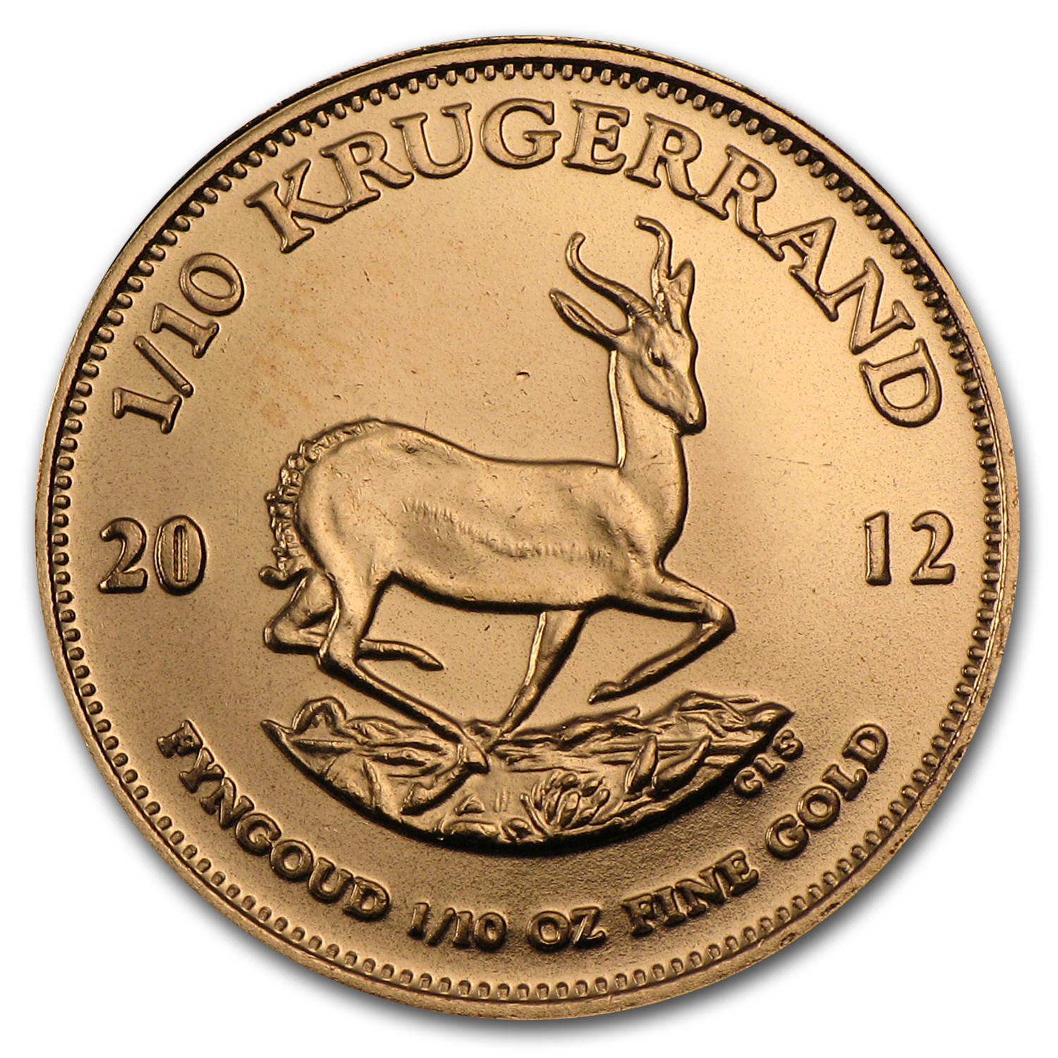 2012 South Africa 1/10 oz Gold Krugerrand