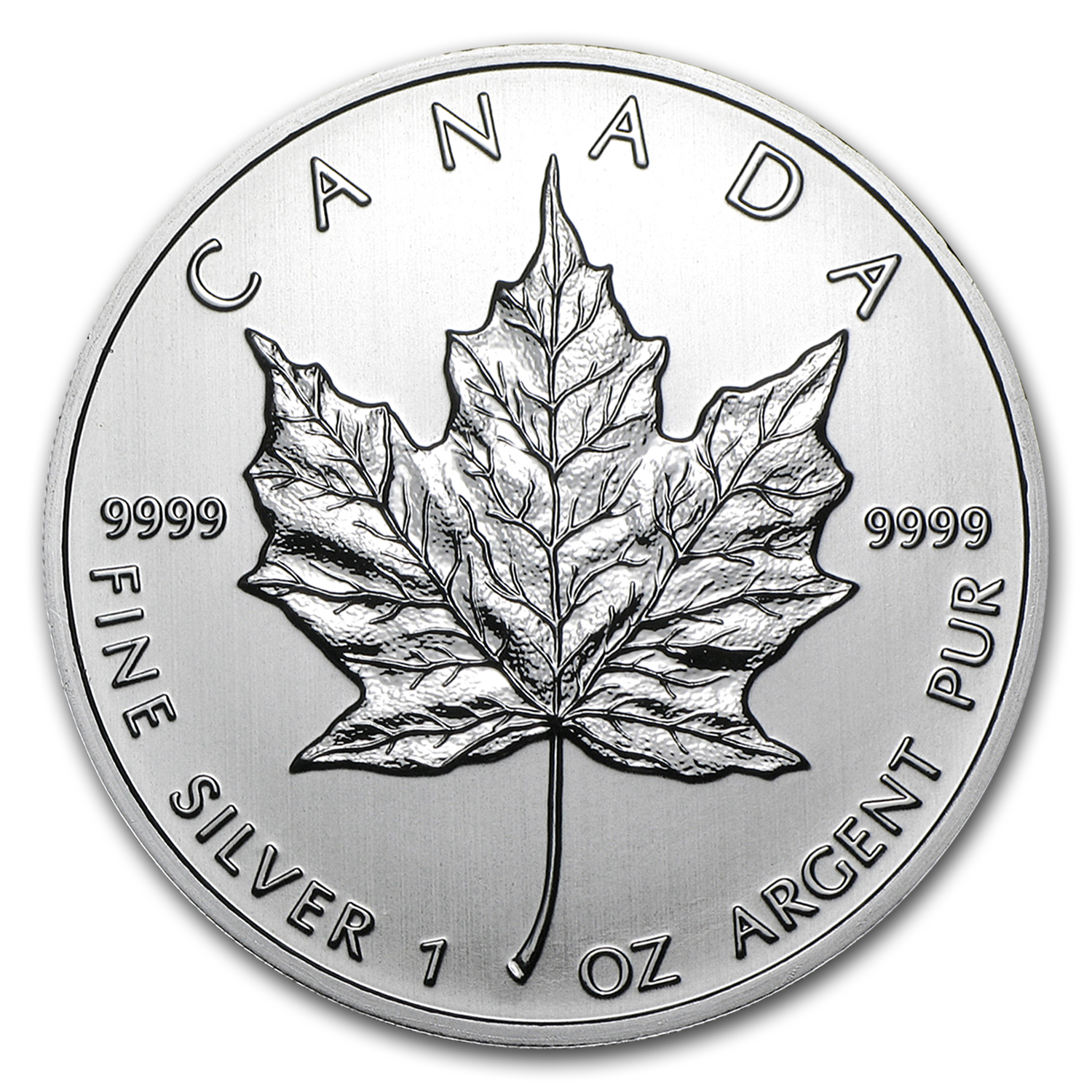 2012 1 oz Silver Canadian Maple Leaf BU
