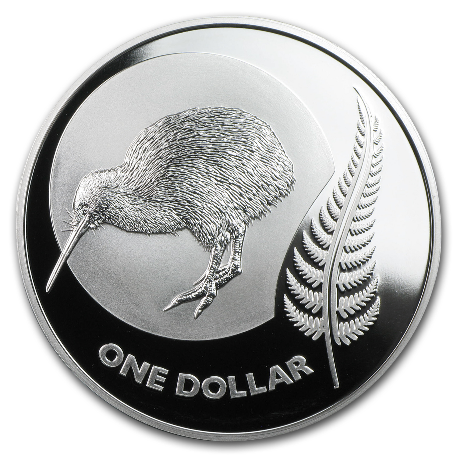2011 New Zealand Icons $1 Kiwi Silver Proof Coin