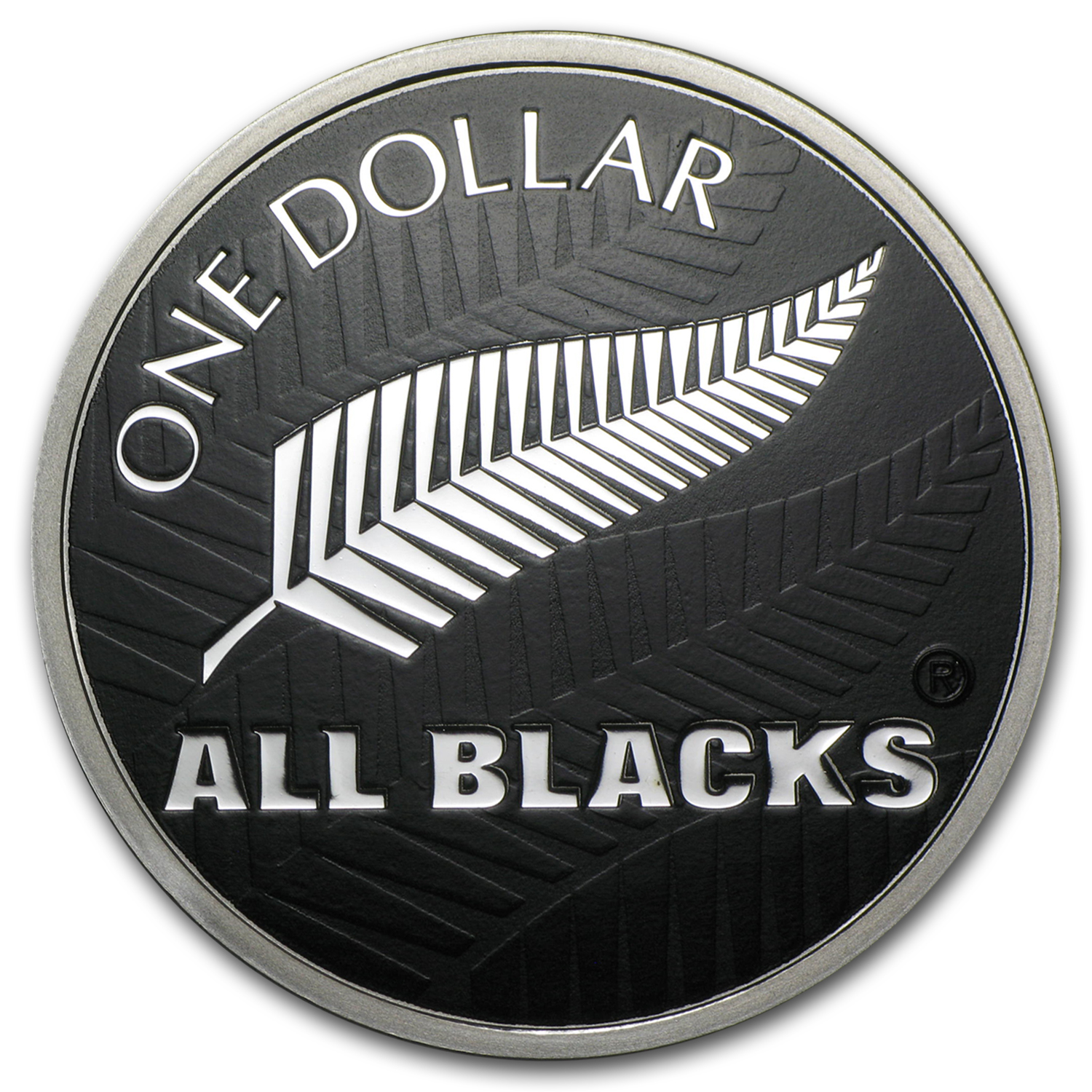 2011 1 oz Silver New Zealand All Blacks Silver Fern Proof (W/Box)