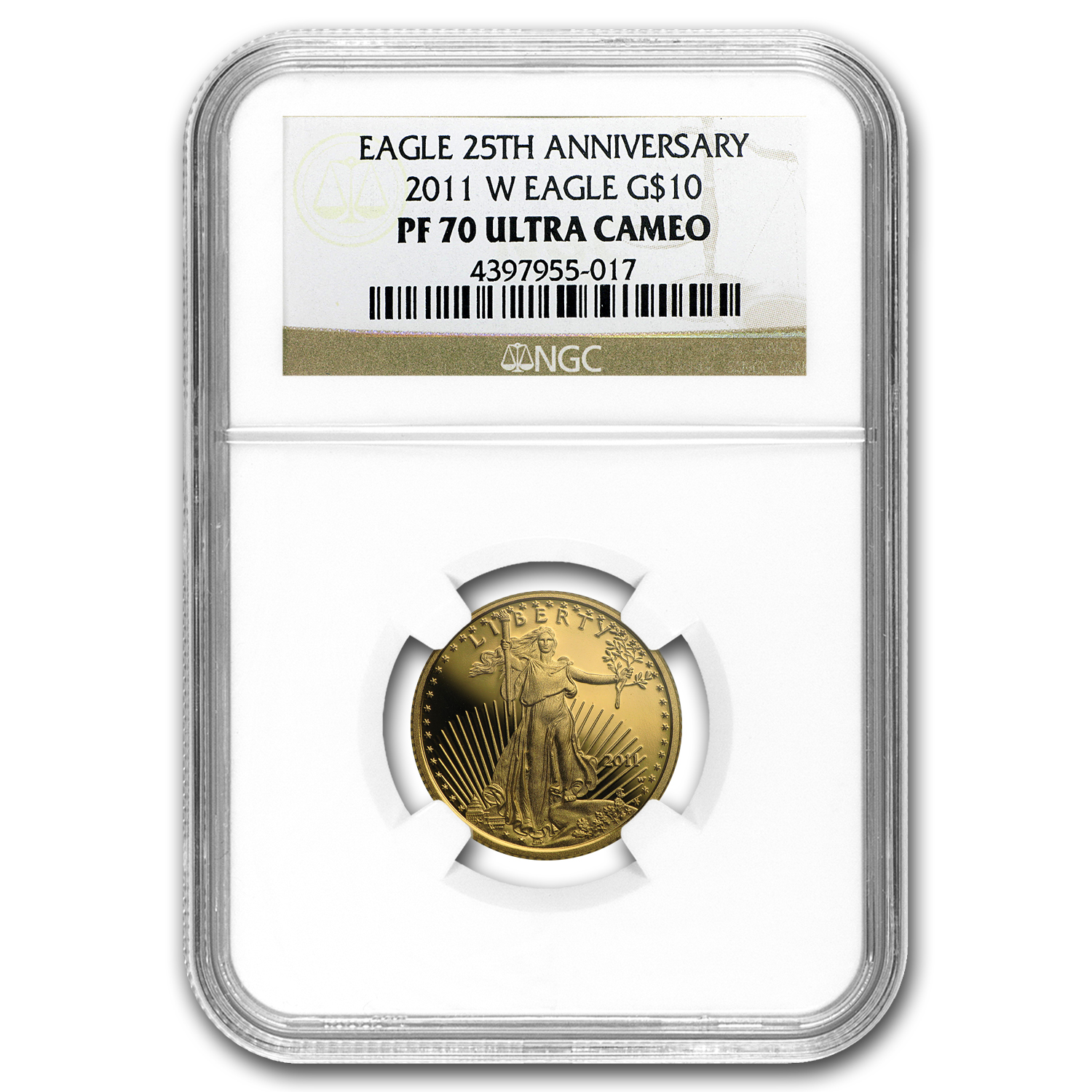 2011-W 1/4 oz Proof Gold American Eagle PF-70 UCAM NGC