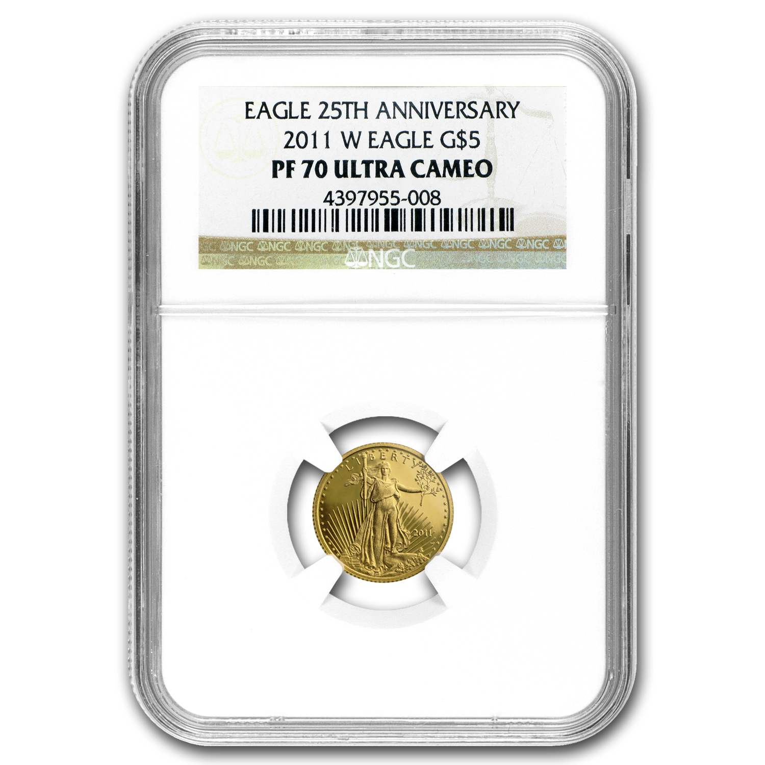 2011-W 1/10 oz Proof Gold American Eagle PF-70 UCAM NGC