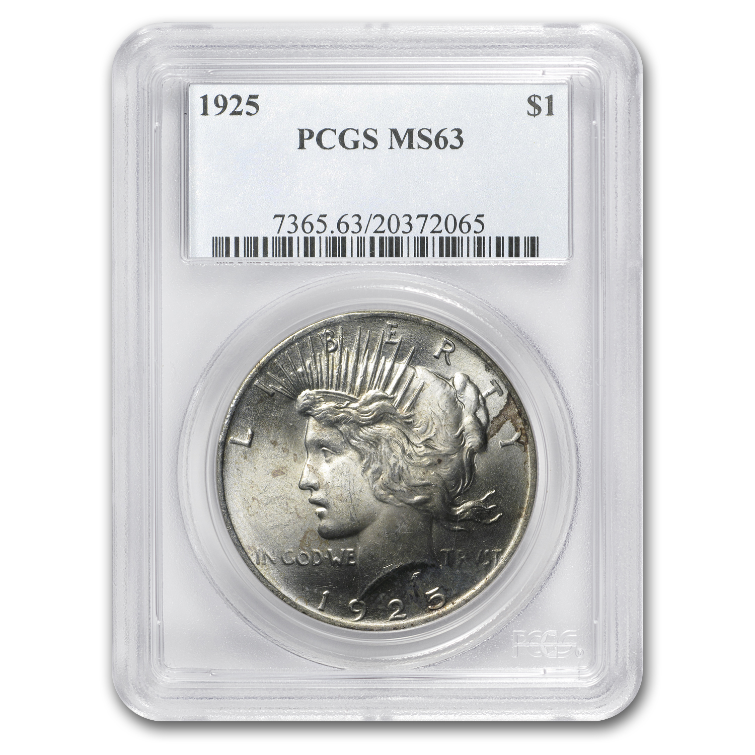1922-1925 Peace Dollars MS-63 PCGS (Toned Obv/Rev)