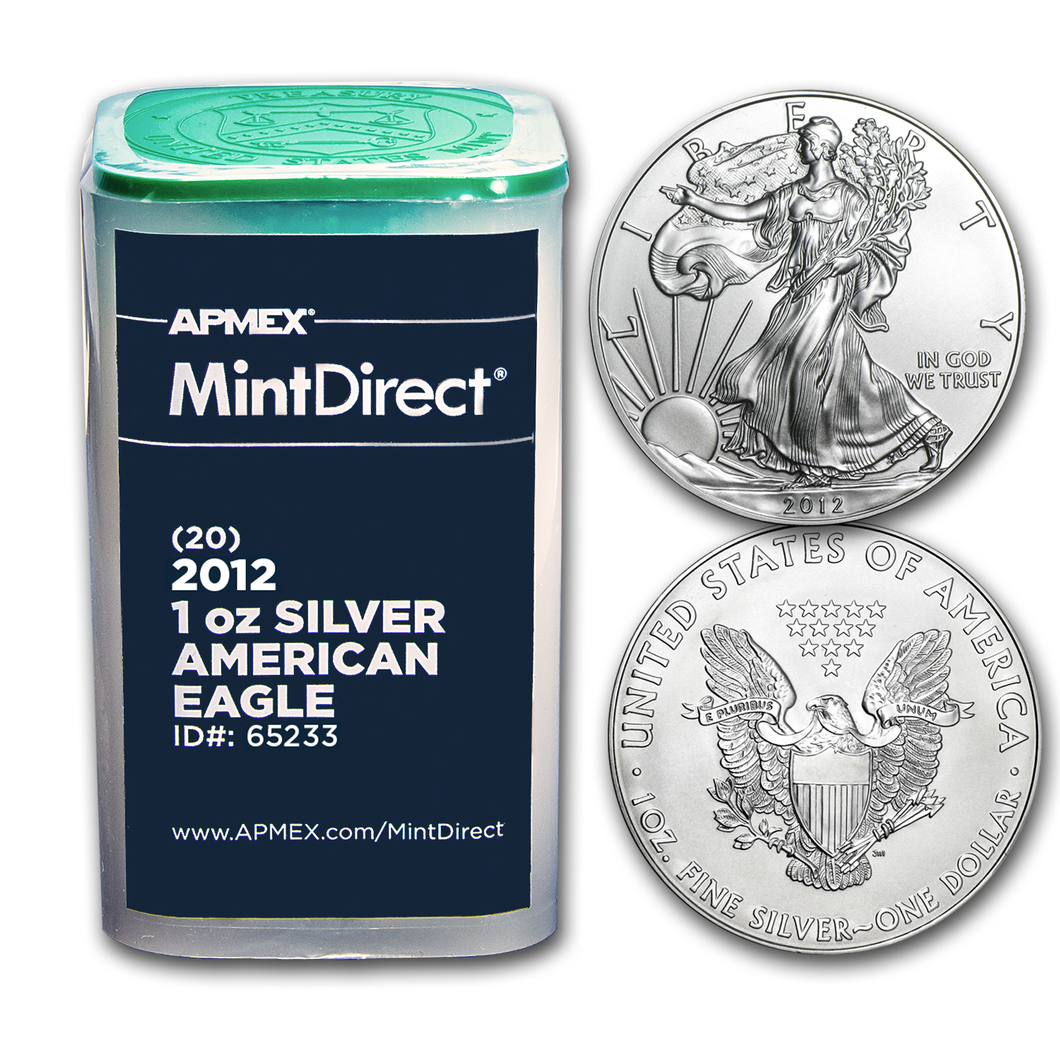 2012 1 oz Silver Eagles (20-Coin MintDirect® Tube)