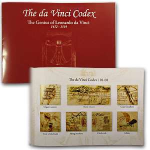 2011 Niue 32.79 oz Silver da Vinci Codex 24-Piece Coin Set