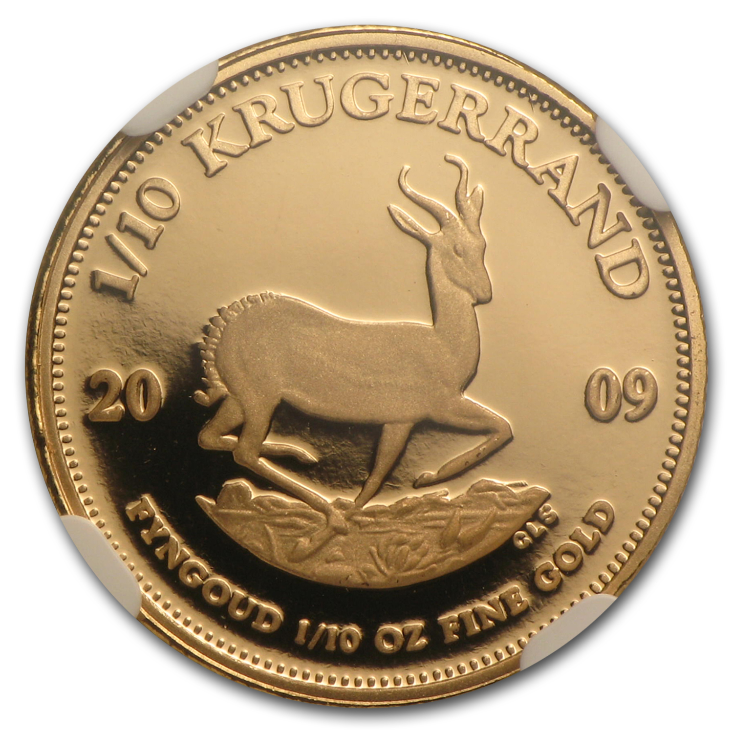 2009 South Africa 1/10 oz Gold Krugerrand PF-69 NGC