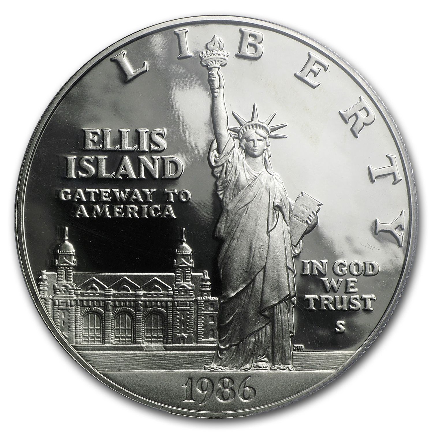 1986-S Statue of Liberty $1 Silver Commem PR-70 PCGS