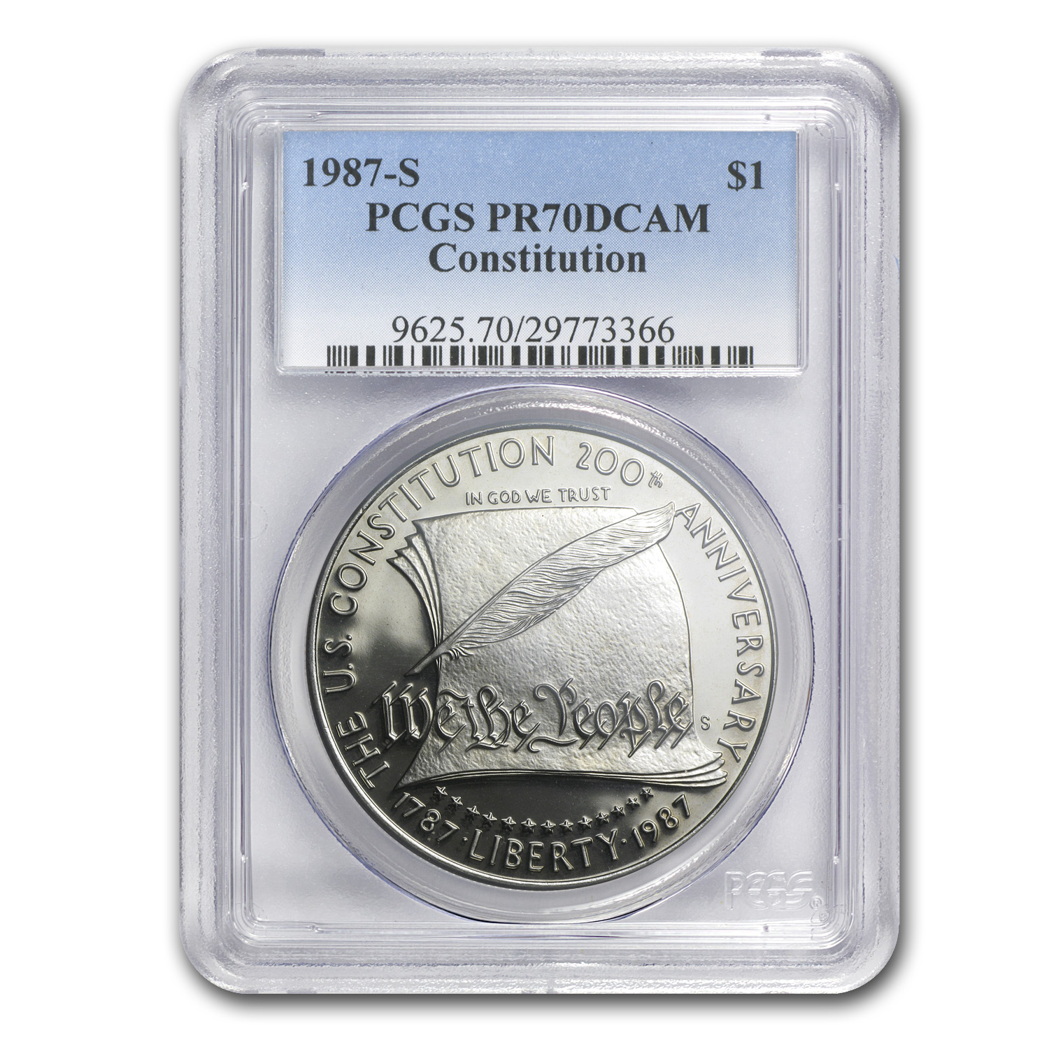 1987-S Constitution $1 Silver Commemorative PR-70 PCGS