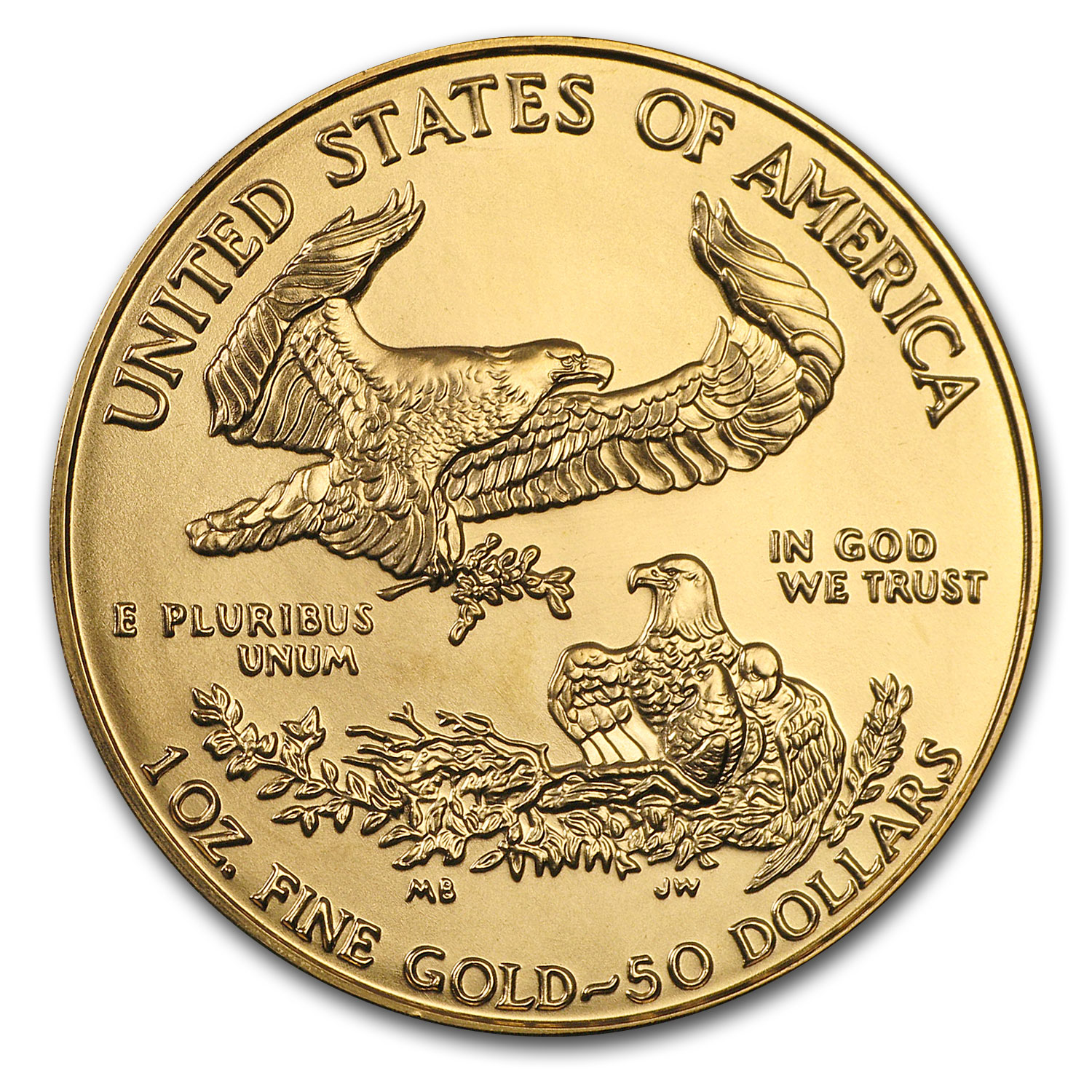1996 1 oz Gold American Eagle BU