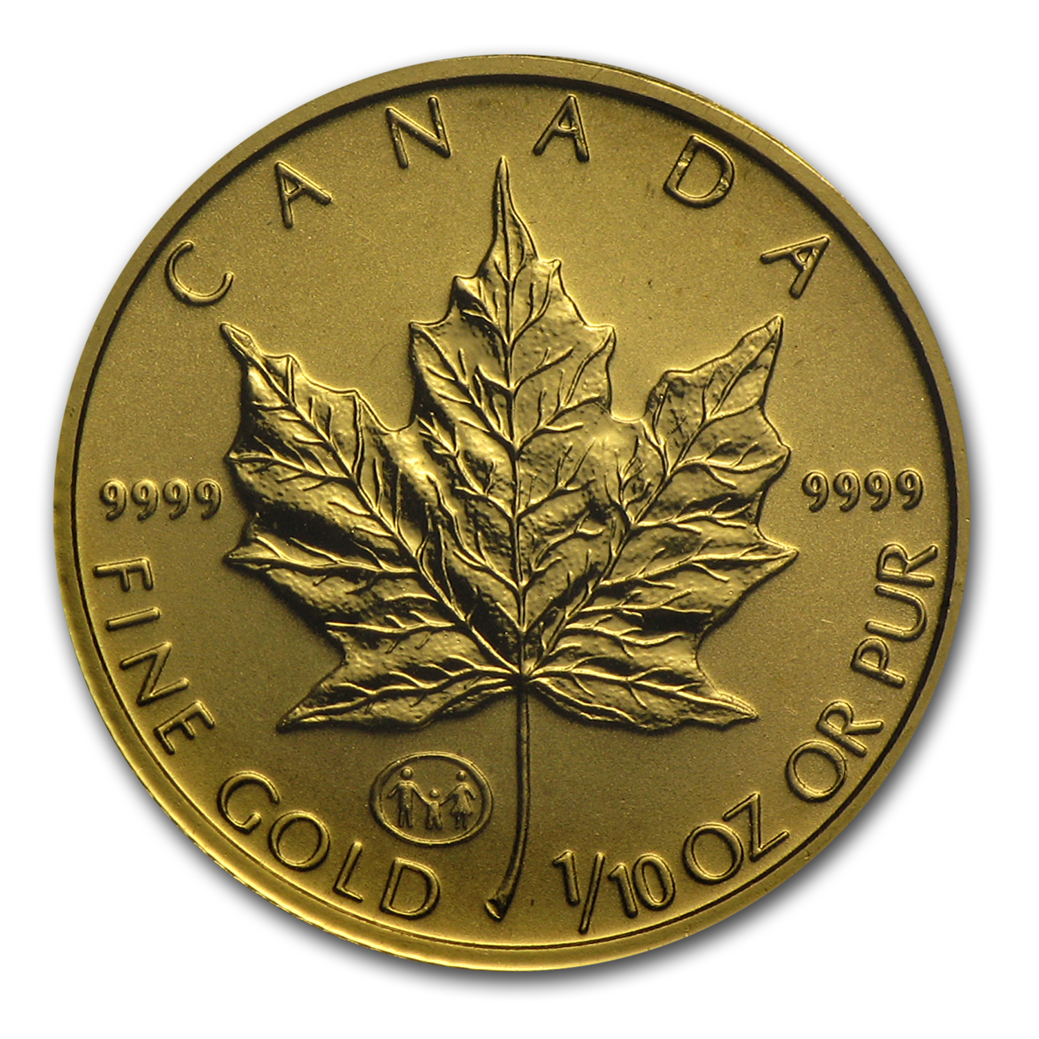 1997 1/10 oz Family Privy Gold Canadian Maple Leaf