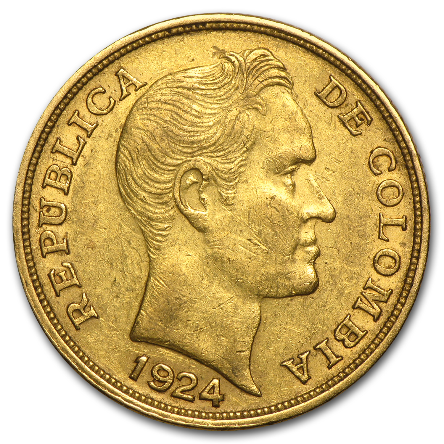 Colombia 10 Pesos Gold Average Circ (Random Dates)