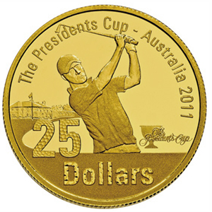 2011 1/4 oz Proof Gold $25 Presidents Cup Coin