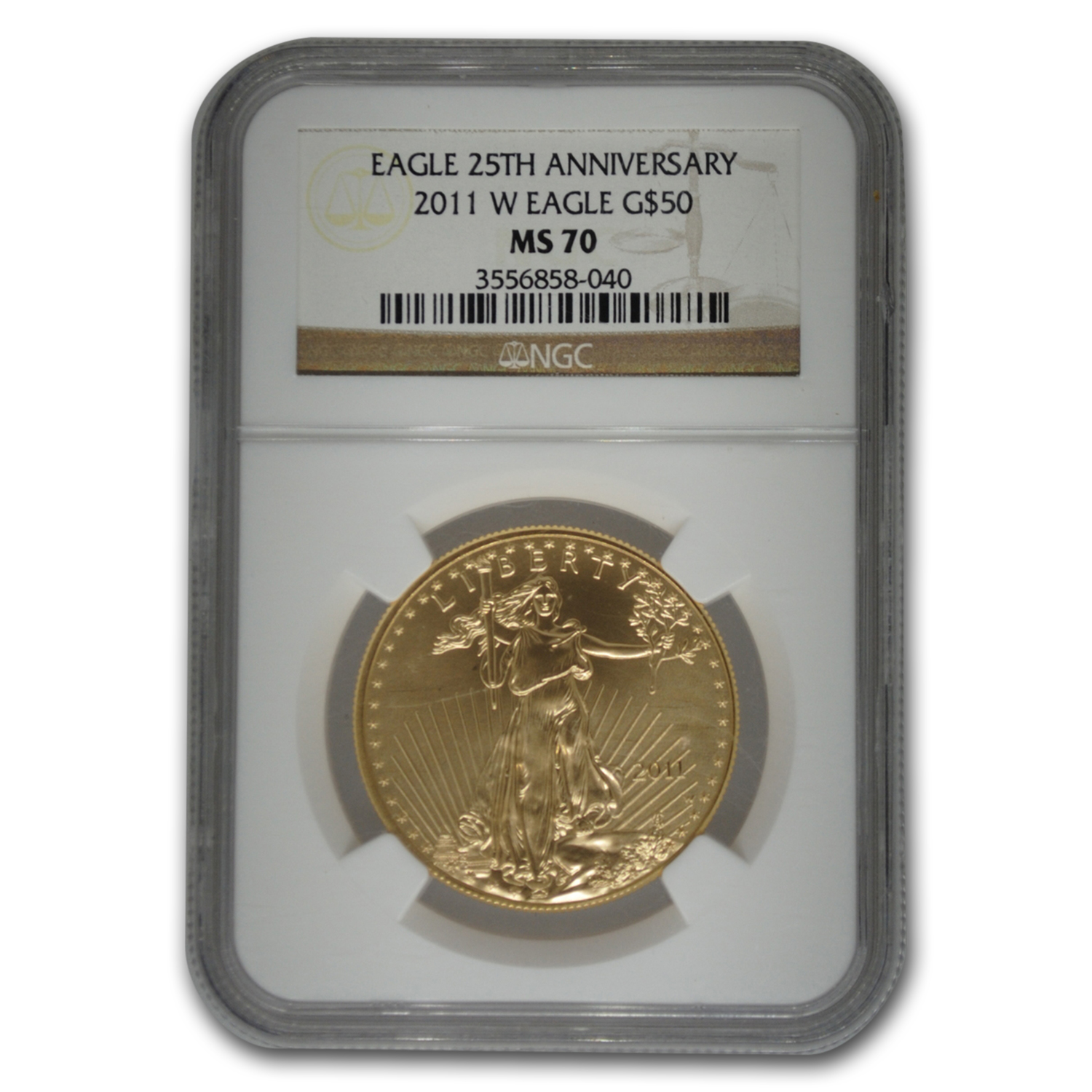 2011-W 1 oz Burnished Gold Eagle MS-70 NGC