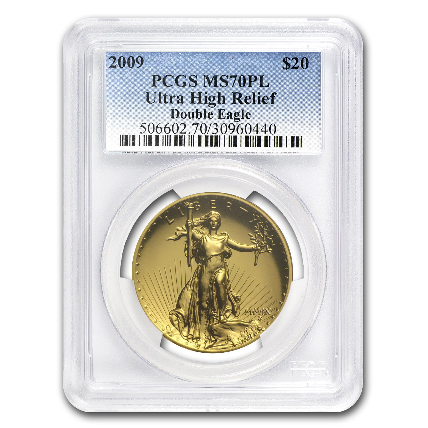 2009 Ultra High Relief Gold Double Eagle MS-70 PL PCGS