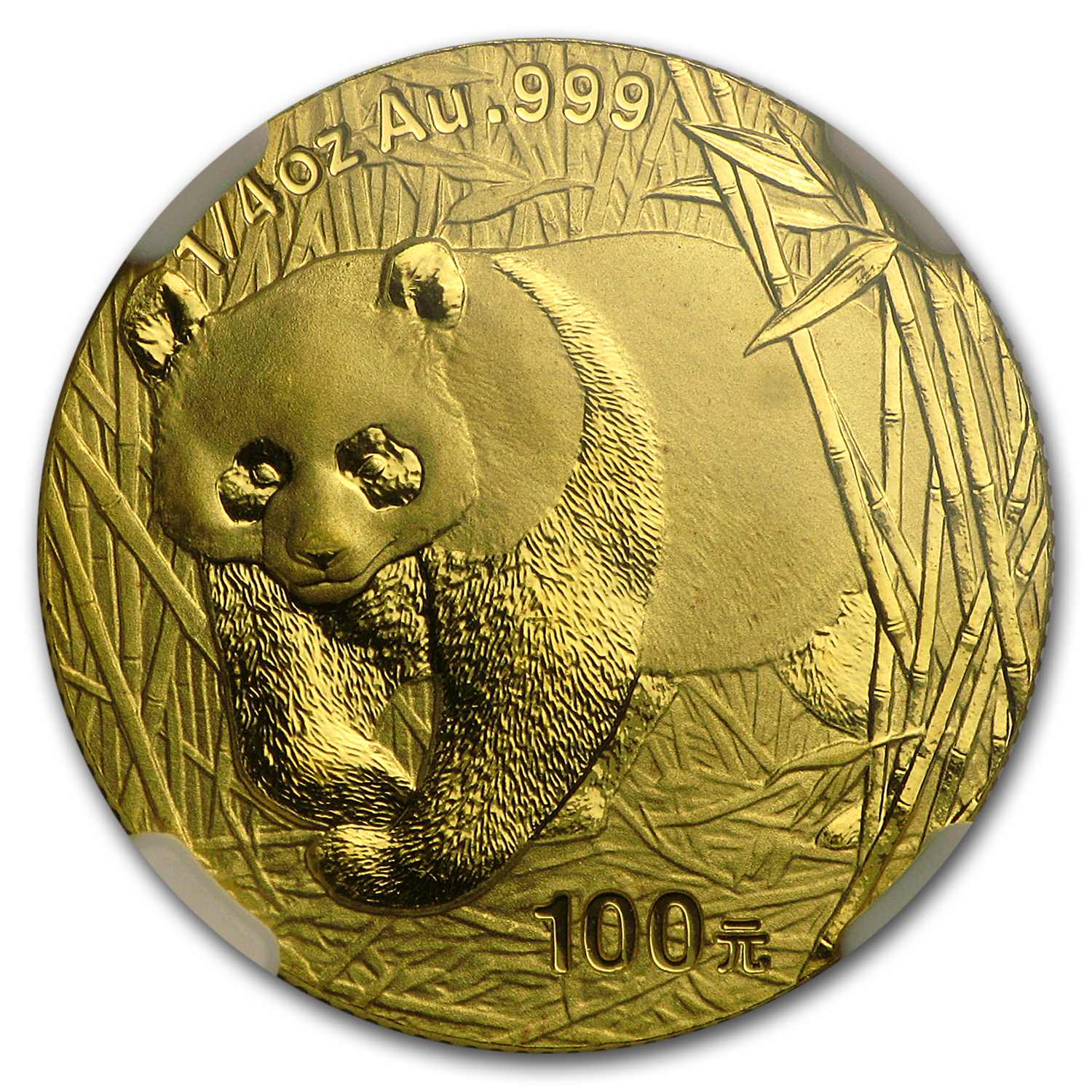 2001 (1/4 oz) Gold Chinese Pandas - MS-69 NGC