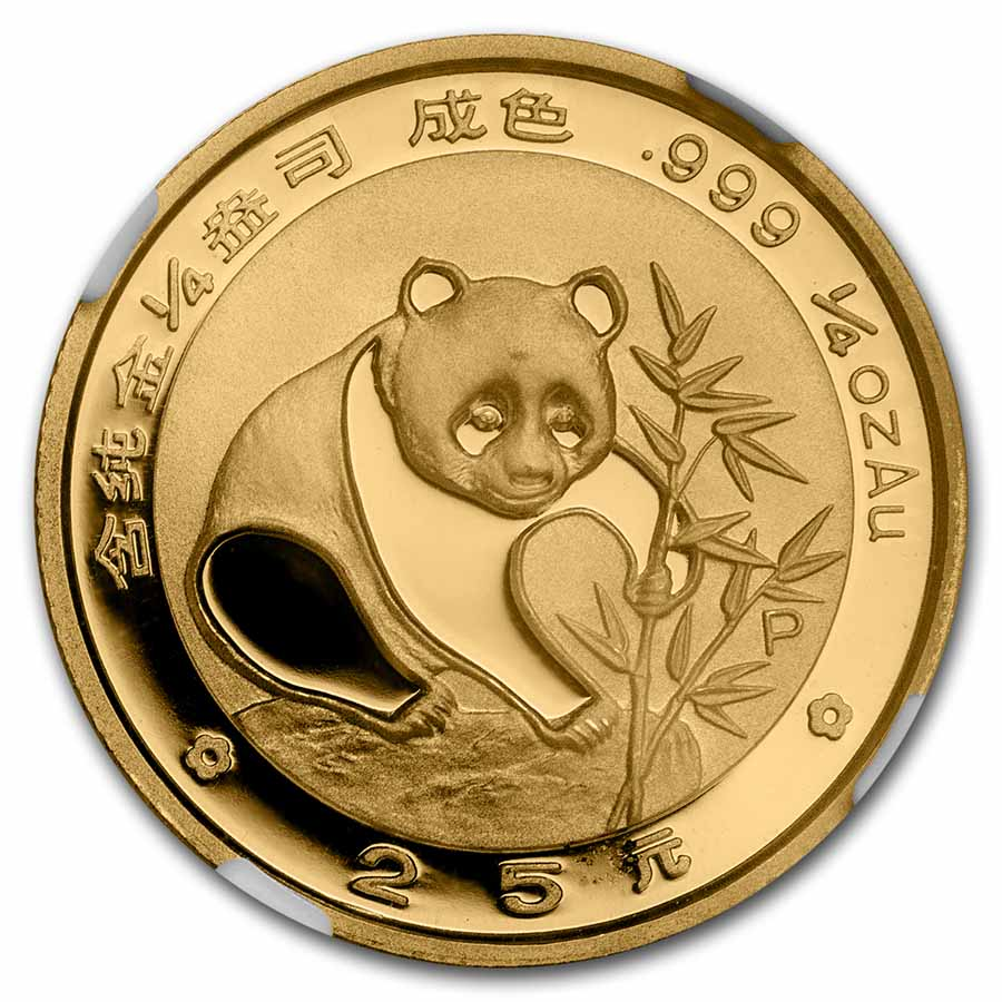 1988 (1/4 oz Proof) Gold Chinese Pandas - PF-69 UCAM NGC